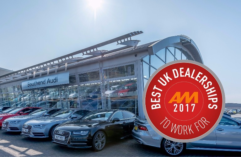 Southend Audi named Best UK Dealership To Work For