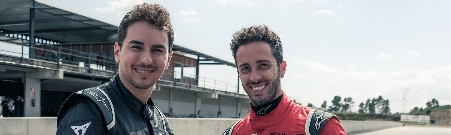 DOVIZIOSO AND LORENZO AT THE WHEEL OF THE CUPRA TCR
