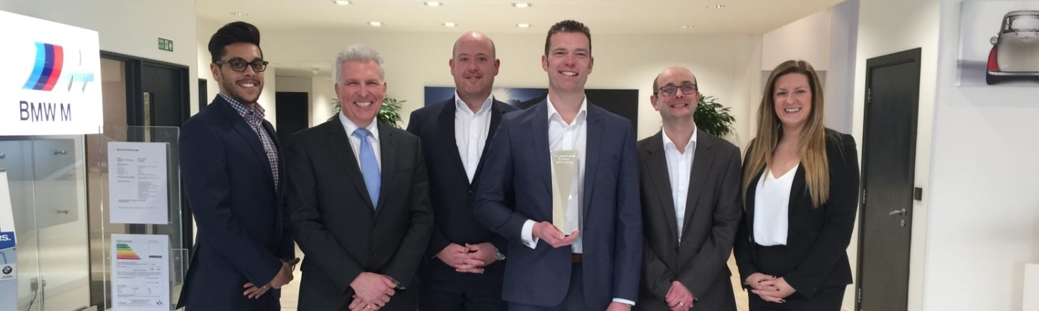 Barons Farnborough are named the BMW 2015 PLC Group Retailer of the Year.
